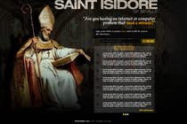 Graphic Design Entri Kontes #22 untuk Graphic Design for One page web site for the Saint Of the Internet: St. Isidore of Seville