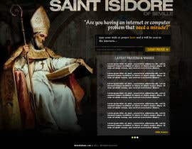 #9 para Graphic Design for One page web site for the Saint Of the Internet: St. Isidore of Seville por RockPumpkin