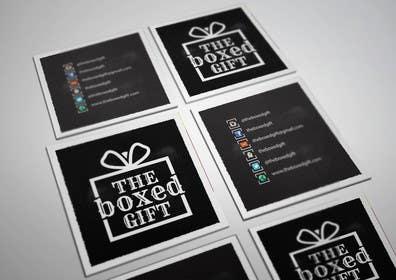 #44 for Design Social Media Business Cards for The boxed Gift af Jayson1982