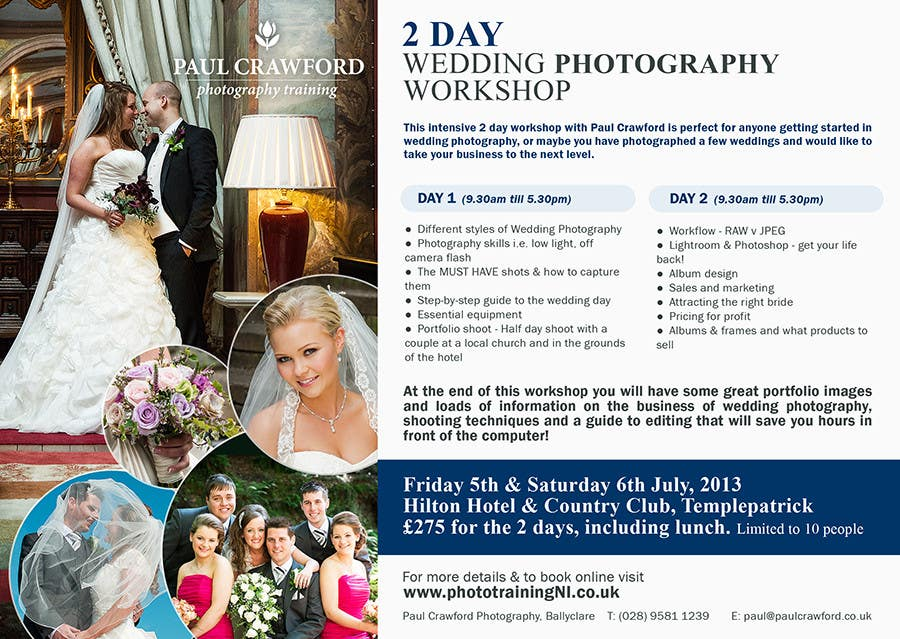 Bài tham dự cuộc thi #                                        39                                      cho                                         Design a Flyer for my wedding photography workshops