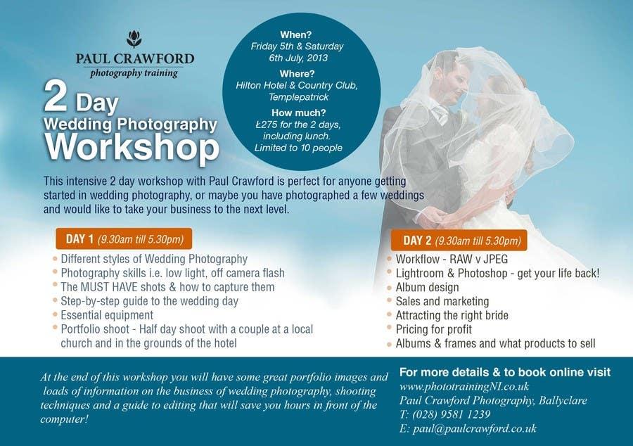 Penyertaan Peraduan #2 untuk Design a Flyer for my wedding photography workshops
