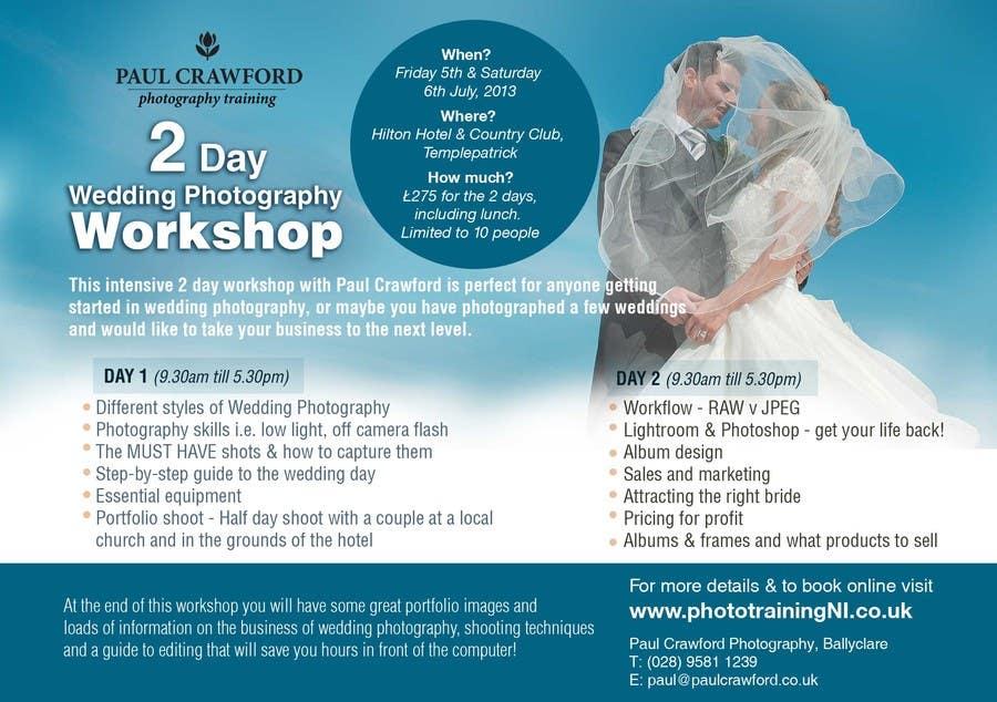 Bài tham dự cuộc thi #                                        6                                      cho                                         Design a Flyer for my wedding photography workshops