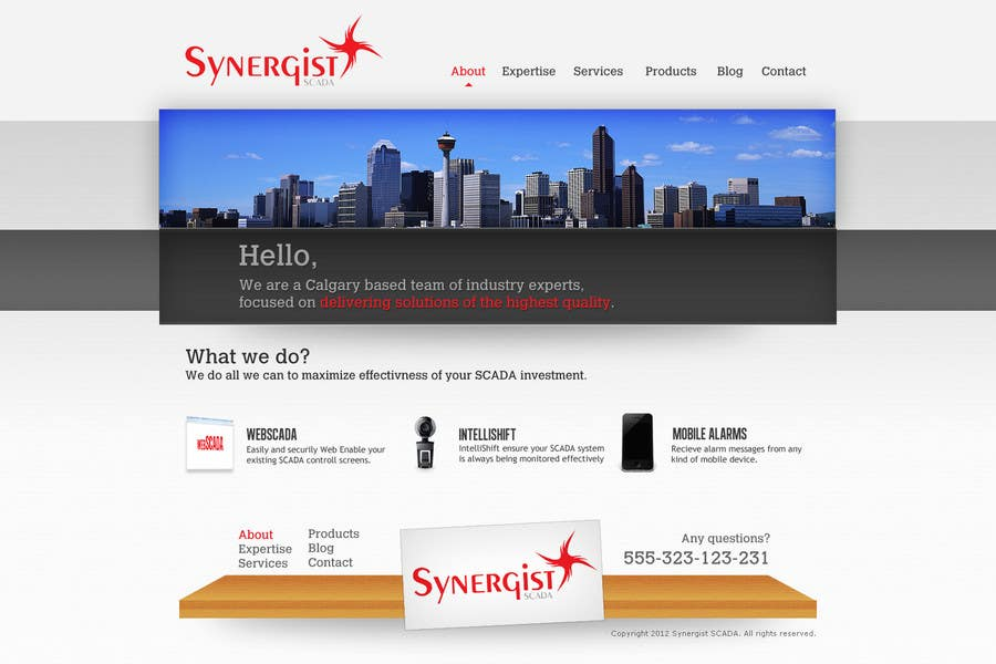 Contest Entry #10 for Wordpress Theme Design for Synergist SCADA INC