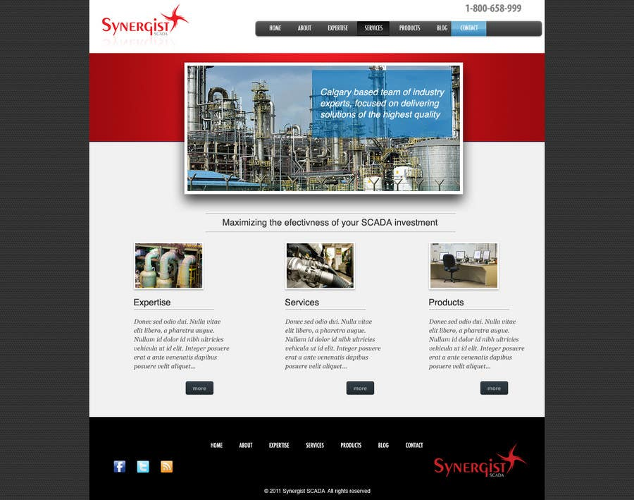 Contest Entry #                                        30                                      for                                         Wordpress Theme Design for Synergist SCADA INC