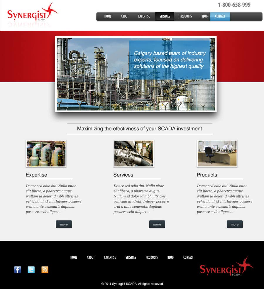 Contest Entry #12 for Wordpress Theme Design for Synergist SCADA INC