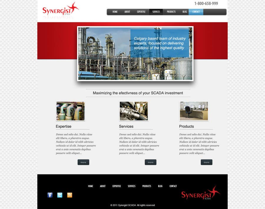 Contest Entry #                                        33                                      for                                         Wordpress Theme Design for Synergist SCADA INC