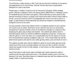#5 para Write some Articles for GoPlay.com por auburnlake