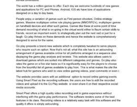auburnlake tarafından Write some Articles for GoPlay.com için no 5