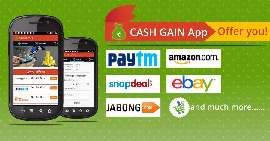 Konkurrenceindlæg #5 for Design a Coverpage & Banner for Cash Gain App