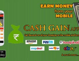 #14 untuk Design a Coverpage & Banner for Cash Gain App oleh harshanadineth