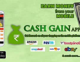 #15 untuk Design a Coverpage & Banner for Cash Gain App oleh harshanadineth