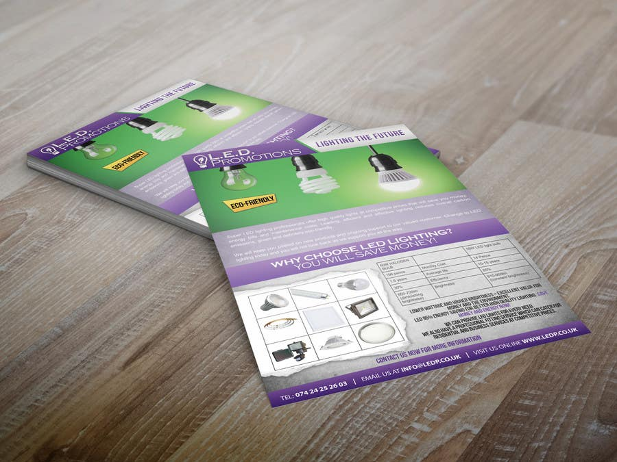 Penyertaan Peraduan #45 untuk Design a NEW marketing flyer for our business with a logo