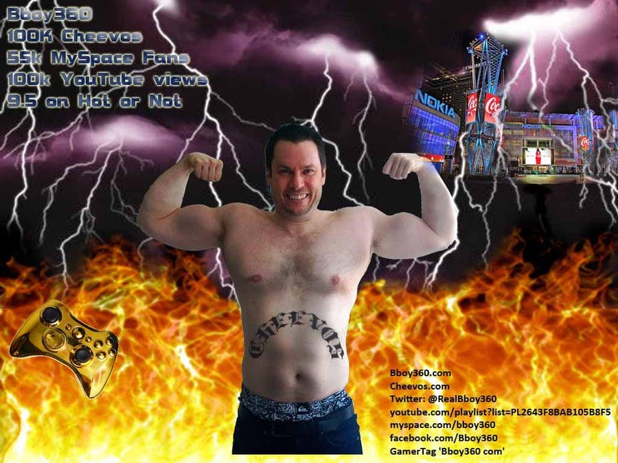 Bài tham dự cuộc thi #21 cho Add Muscles, Lightning, Fire and Awsomeness to a photo of Me