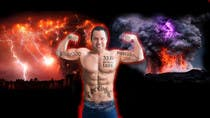 Graphic Design Entri Peraduan #4 for Add Muscles, Lightning, Fire and Awsomeness to a photo of Me