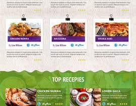 kethketh tarafından Food Website Design için no 42