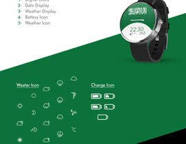 #5 para Android Watch face designed around Saudi Arabia's flag por photogra