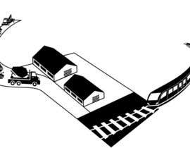 #29 untuk illustrate flow of trains and trucks oleh areejjamal