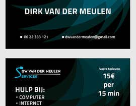 #11 for Design some Business Cards for DW van der Meulen Services by Hassan12feb
