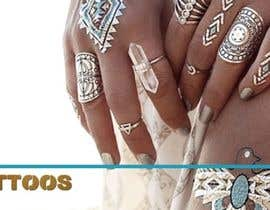 AlenaPolyah tarafından Design a Banner for Fashion Jewelry- Metallic Tattoos için no 61