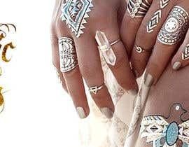 #171 untuk Design a Banner for Fashion Jewelry- Metallic Tattoos oleh AlenaPolyah