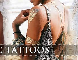 #147 untuk Design a Banner for Fashion Jewelry- Metallic Tattoos oleh Lorvelline