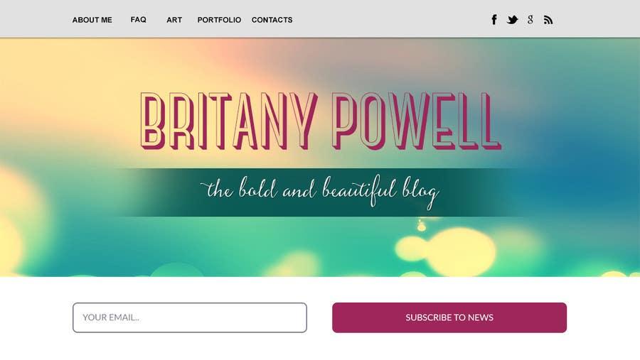 Kilpailutyö #25 kilpailussa Design a Blogger Landing Page