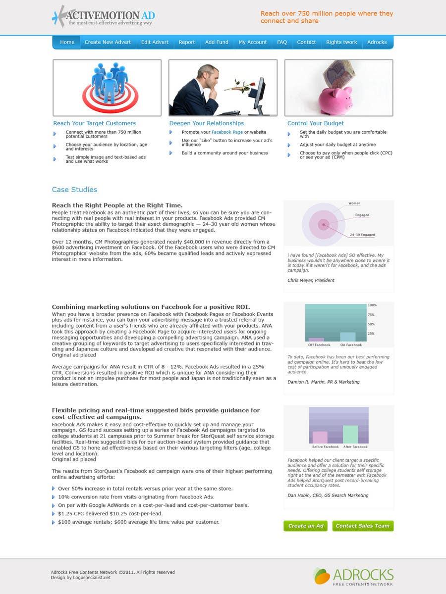 Konkurrenceindlæg #                                        5                                      for                                         Website Design for Active Motion Ad