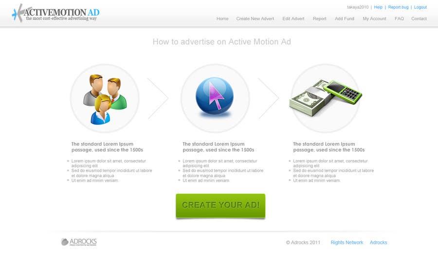 Inscrição nº                                         37                                      do Concurso para                                         Website Design for Active Motion Ad