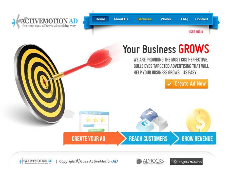 Inscrição nº                                         33                                      do Concurso para                                         Website Design for Active Motion Ad