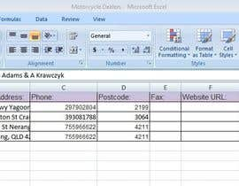 pandey2008 tarafından Do some Excel Work for Data scraping a website için no 16
