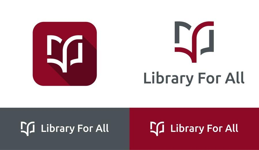 Penyertaan Peraduan #239 untuk Design a Logo for the Library For All application!
