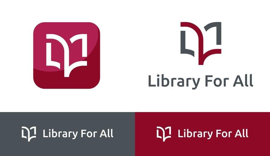 Penyertaan Peraduan #316 untuk Design a Logo for the Library For All application!