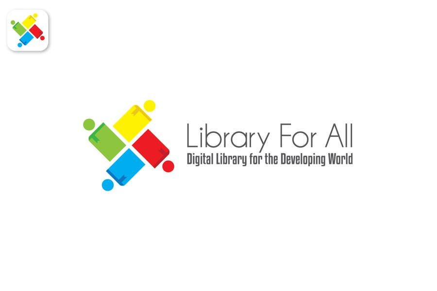 Penyertaan Peraduan #303 untuk Design a Logo for the Library For All application!