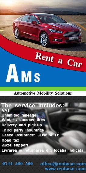 Kilpailutyö #5 kilpailussa Design a Flyer for AMS RENT A CAR