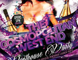 #15 para Design a Flyer for The Cosmopolitan Westend Penthouse Party por mirandalengo