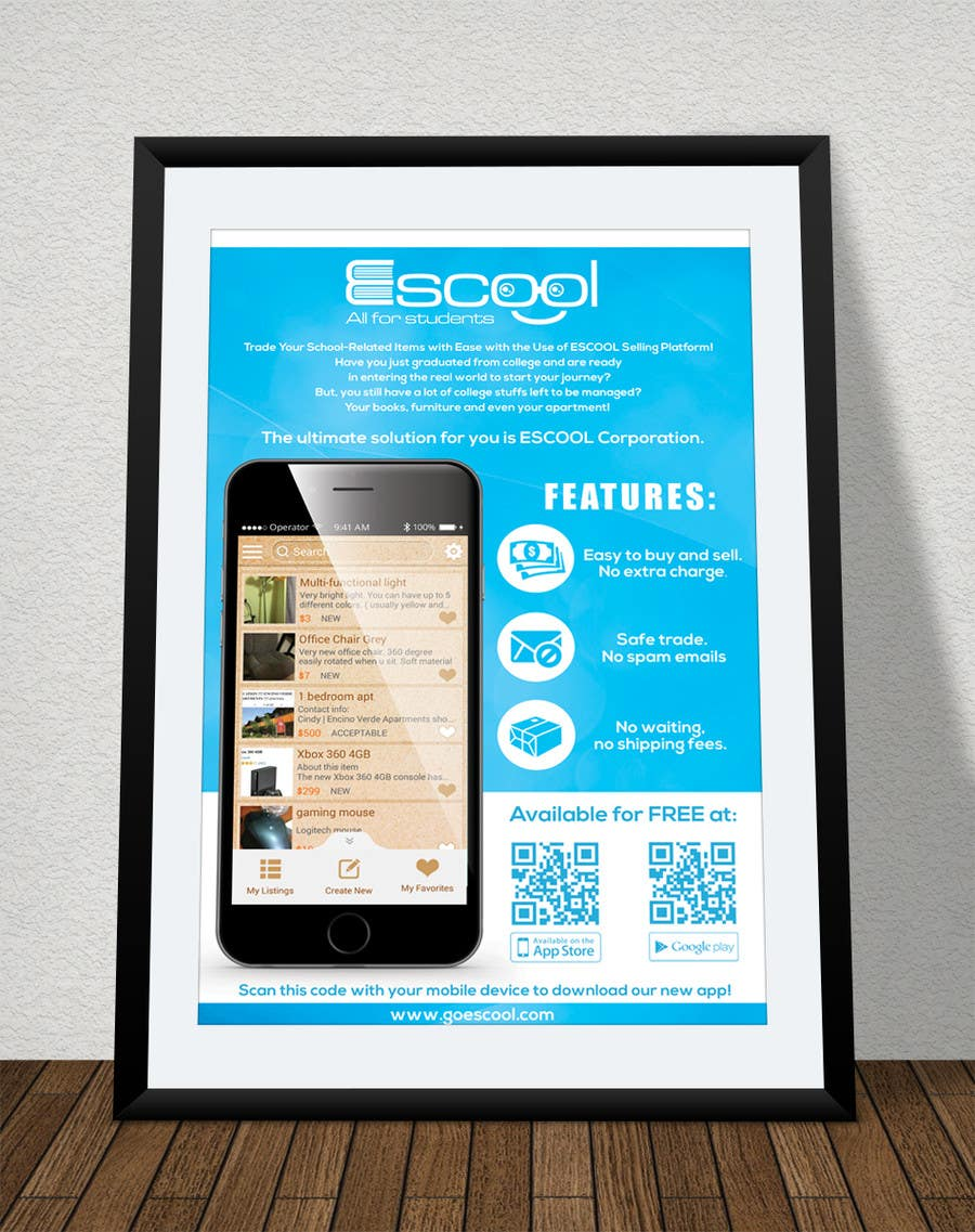 Poster design app - Poster Design App Poster Design For Escool Phone App Freelancer