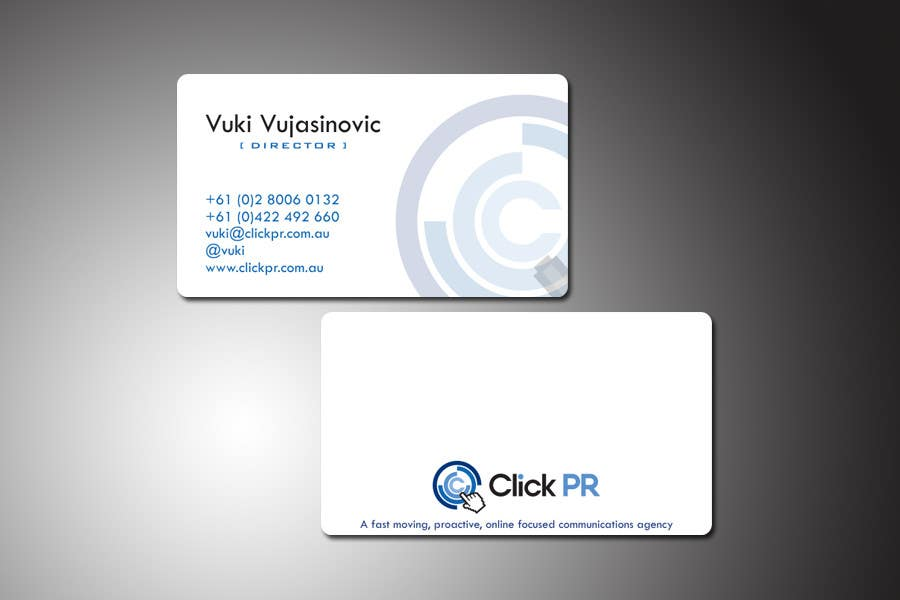 Contest Entry #116 for Business Card Design for Click PR