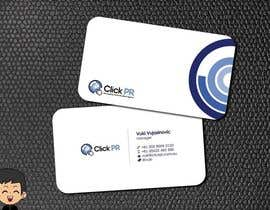 #192 pentru Business Card Design for Click PR de către elindana