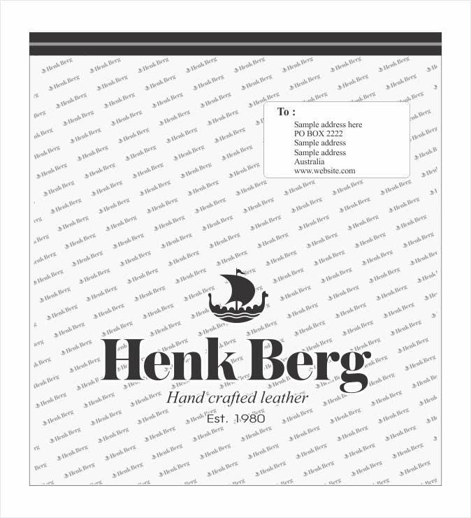 Bài tham dự cuộc thi #8 cho Create Print Design for plastic mailing bag