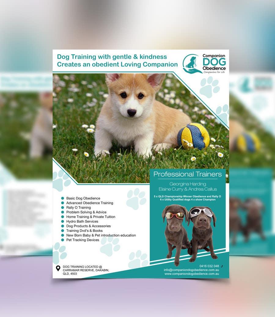 Penyertaan Peraduan #12 untuk Dog Obedience Flyer Design