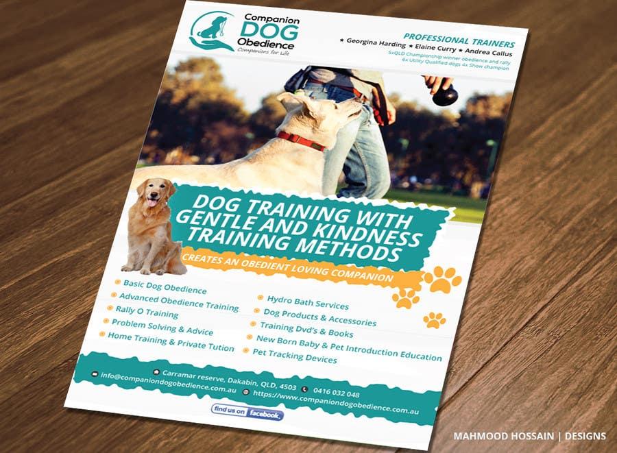 Penyertaan Peraduan #11 untuk Dog Obedience Flyer Design