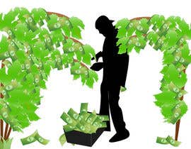 numairnj tarafından I need an illustration of a grape vine that grows money instead of grapes için no 12