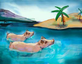 #18 for Illustrate Something for a swimming pig.. af stevanzivkovic
