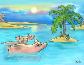 #3 untuk Illustrate Something for a swimming pig.. oleh weijia
