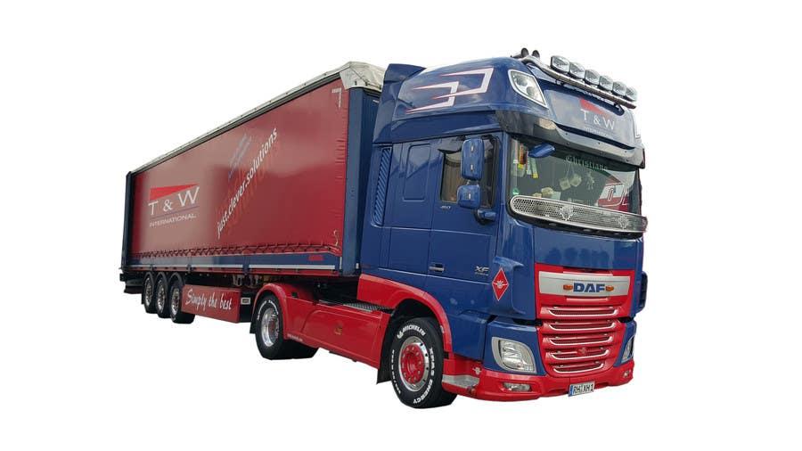 Penyertaan Peraduan #15 untuk Alter some images -- add logo on trucks