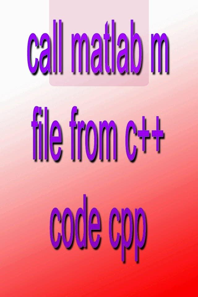 Inscrição nº                                         11                                      do Concurso para                                         call matlab m file from c++ code cpp