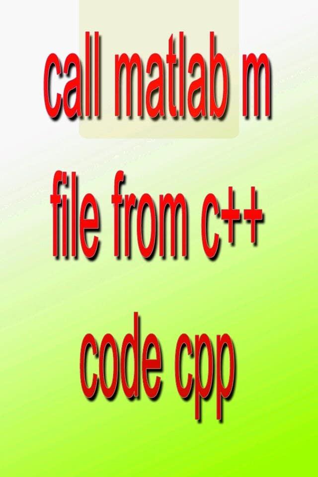Inscrição nº                                         13                                      do Concurso para                                         call matlab m file from c++ code cpp