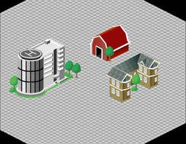 #20 para 100 isometric building designs for iPhone/Android city building game por doarnora