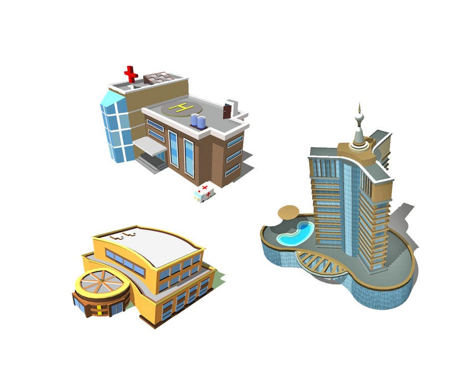 Contest Entry #                                        19                                      for                                         100 isometric building designs for iPhone/Android city building game
