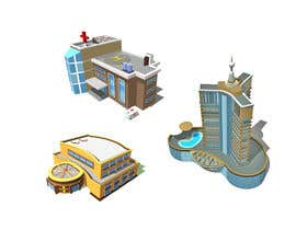 #19 para 100 isometric building designs for iPhone/Android city building game por designerdevilz